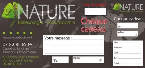 heure nature identite visuelle print chèque cadeau